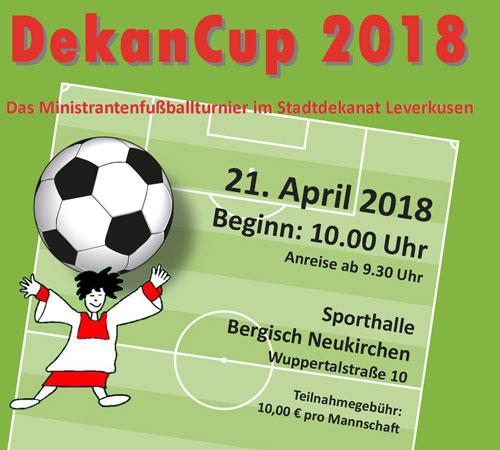 Dekan -Cup 2018 am 21. April