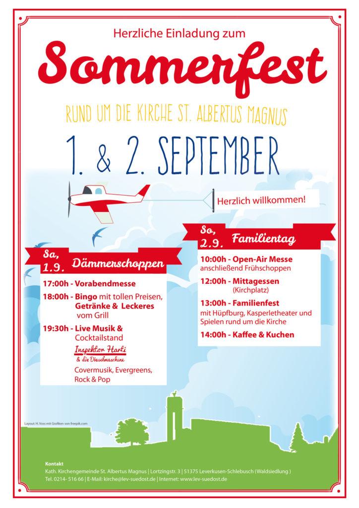 Sommerfest in unserer Gemeinde – 1. & 2. September